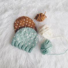 Flurries Free Knitting Hat Pattern