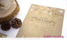 GUDY Wedding 婚禮設計 - Wedding Invitation – 木質聖誕手工喜帖