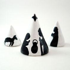 Modern Nativity Scene Tree Set