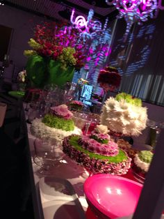 A flower arrangement at Philip Carr's event