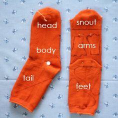 sock dragon pattern