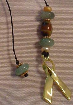 Beaded bookmark, using bravery beads