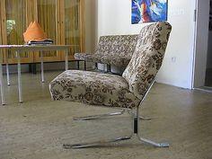 DDR Industrieform Freischwinger Sessel Loungesessel Schwingsessel Swing Chair