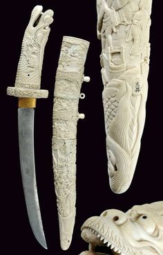 A beautiful decorated tanto Japan, 19th Century