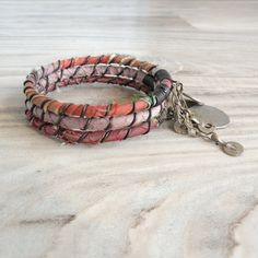 Silk Road Gypsy Bangle Stack  Citrus Pastels  3 by GypsyIntent, $30.00