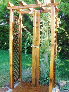 *WHITE GLAM*: Chuveiro de jardim! ** New garden shower