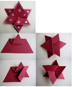 Check out the link to read more about Step by Step Origami Instruções Origami, Paper Crafts Origami, Paper Crafting, Origami Videos, Origami Envelope, Christmas Origami, Christmas Paper, Christmas Projects, Holiday Crafts