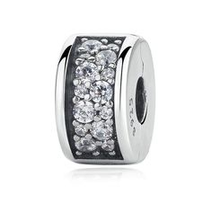 925 Sterling Silver Shining Shining Elegance Clip, Clear CZ Charms Fit Pandora Bracelet For Women DIY Jewelry Making Silver For Jewelry Making, Diy Jewelry Making, Sterling Silver Jewelry, 925 Silver, Silver Earrings, Silver Ring, Fitness Bracelet, Bijoux Diy, Silver Charms