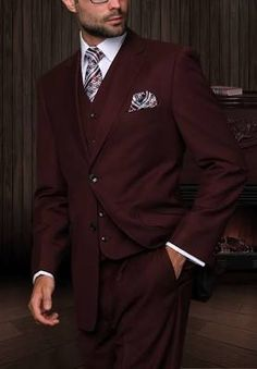 Ben- vest or jacket though, not both. Or maybe just the pants with suspenders?  Tzarelli Mens Burgundy 3pc 2 ...