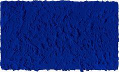 Yves Klein, Monochrome bleu sans titre (IKB 45), 1960, 27 x 46 cm. (C.) Archives Yves Klein