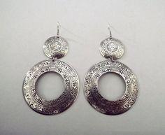 Gypsy earrings, silver boho earrings, Morrocan earrings, tibetan jewelry. $25.00, via Etsy.