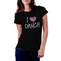 I Heart Dance Rhinestone T Shirts
