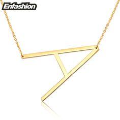 Moda mektup kolye kolye alfabet İlk kolye 24 k altın paslanmaz çelik choker kolye kadınlar takı kolye collier