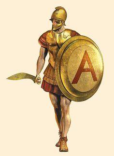 Athenian hoplite ('οπλίτης'); 4th BC; hellas Art by: Chris Giannopoulos