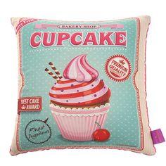 Almofada Veludo Cupcake Verde