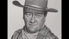 Portrait Drawing of John Wayne - YouTube