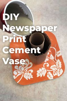 Decorative DIY cement vase using newspaper. Learn how to create your own cement vase. I chose to cover the cement with newspaper, but you can cover it with any image of your choice. diy home decor Galaxy Bath Bombs, Diy Wood Wall, Easy Homemade Gifts, Diy Blanket Ladder, Newspaper Printing, Bath Bomb Recipes, Martha Stewart Crafts, Diy Headboards, Diy Home Decor