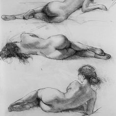 Working through some pose ideas for a painting commission I did several years ago. #studies #sketch #charcoal