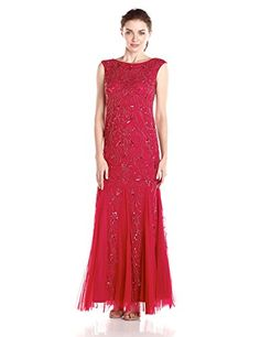 Adrianna Papell Women's Sleeveless All Over Beaded Gown - http://darrenblogs.com/2015/11/adrianna-papell-womens-sleeveless-all-over-beaded-gown/
