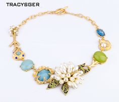 NR-xl00325 / Sweet Girl / Free shipping /wholesale price / sweet floral necklace