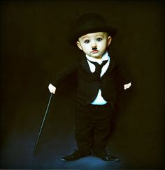 Charlie Chaplin. I don't usually pay much attention to these but this one caught my eye and I love it! Soo cute!