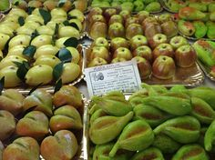These are edible, alright - Marzipan fruits in a pastry shop in Sicily
