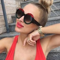 POLYREAL 2018 New Round Sunglasses Luxury Women Brand Designer Fashion Sexy Sun Glasses For Female Party Shades Price history. Product ID: Big Sunglasses, Luxury Sunglasses, Sunglasses Women, Sunnies, Mens Glasses, Women Brands, Designer, Eyewear, Luxury Fashion