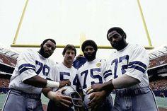 """Doomsday Defense  79-Harvey Martin,54-Randy White,75-Jethro Pugh and 72-Ed """"Too Tall"""" Jones"""