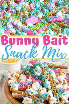 Bunny bait snack mix is the perfect Easter dessert treat for kids and adults ali. Bunny bait snack mix is the perfect Easter dessert treat for kids and adults alike. Plus, leave some out for the Easter bunny! Easter Snacks, Easter Appetizers, Easter Treats, Easter Recipes, Easter Food, Easy Easter Desserts, Easter Stuff, Easter Dinner, Easter Brunch