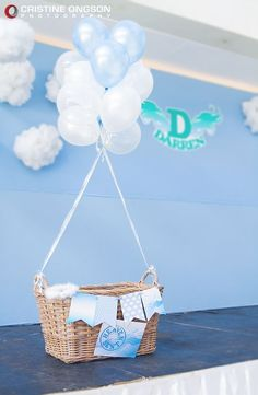 Heaven Sent Boy Birthday | Philippine Children's Party Style Blog #decoracionbabyshowerboy