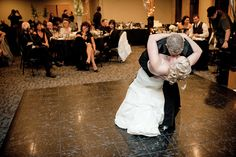 Matt Shumate Photography at Schweitzer Mountain Wedding bride and groom first dance, dip with a kiss