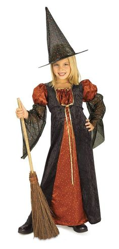 Std Teen Punk Rock 80S Goth Colorful Witch Girls Halloween Costume Set