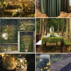 Forest Wedding Theme, Rustic Country Wedding, Greenery Wedding Moodboard Inspiration #wedding #weddinginspiration #weddinginvitations