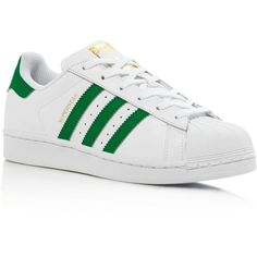size 40 79a16 493af Adidas Womens Superstar Foundation Lace Up Sneakers featuring polyvore  womens fashion shoes sneakers laced up shoes