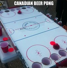 Canadian beer pong, I'm up for a game!