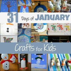 31 Days of January Crafts for Kids from Mamas Like Me diy ideas, winter snow, januari craft, snow crafts, diy crafts, snowman crafts, winter craft, craft ideas, kid crafts