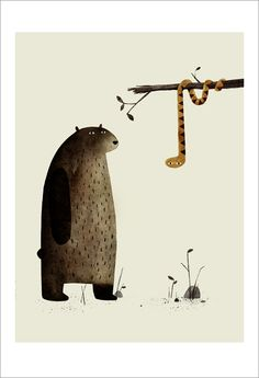 Jon Klassen - Print - I Want My Hat Back - page 11 (Snake) - Nucleus | Art Gallery and Store