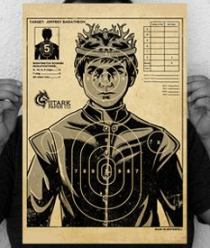"""12.5"""" x 18.5"""" (INCH) full-color poster. A perfect poster to take your hate of Joffrey out on... if you start throwing things at it like darts you might need more than one."""