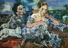 Lovers with Cat by Oskar Kokoschka Size: 130.5x93.5 cm Medium: oil on canvas