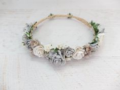 Wedding Flower Crowns featuring hand made crowns on Etsy loved by The Garter Girl by Julianne Smith