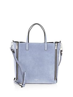 Luana Italy - Piper Mini Zip Reversible Leather & Suede Tote