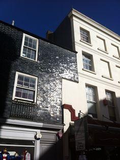 Glazed Bricks - Georgian Brighton Brick Architecture, Amazing Architecture, Architecture Details, Glazed Brick, Glazed Tiles, Brick Extension, Black Brick, Black Tiles, Brick Facade