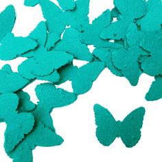 Teal Butterfly Shaped Plantable Seed Paper Confetti from Daisy Giggles.