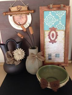 Mamas girls made these; a variety - fun with burlap!