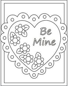 Valentine coloring cards - free printable Valentine cards for kids ...