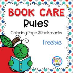 Teach kindergarten and first grade students how to take care of classroom and library book with my new post about teaching book care rules! Kindergarten Library Lessons, School Library Lessons, Preschool Library, School Library Displays, Library Lesson Plans, Elementary School Library, Library Skills, Library Activities, Teaching Kindergarten