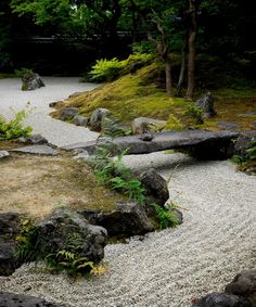 12 beautiful and minimalist zen rock garden ideas that easy to apply and can result a simple stylish modern backyard design. Modern Backyard Design, Zen Garden Design, Japanese Garden Design, Landscape Design, Japanese Style, Japanese Rock Garden, Zen Rock Garden, Dry Garden, Japanese Gardens