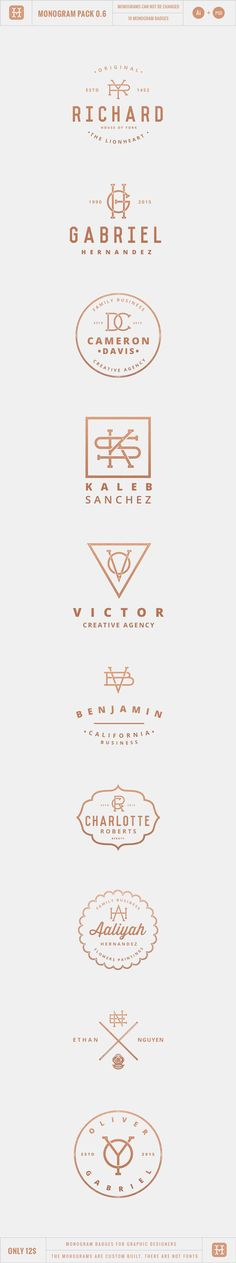 Monogram Pack 0.6 on Behance More