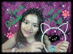 Como fazer tiara de gatinha - Maneira diferente -Tiara da Juju Almeida Novela Carinha de Anjo - YouTube