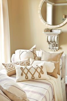Burlap Accent Pillows - now available at ballarddesigns.com
